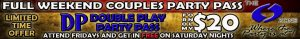 Banner Ad describing Double Play Party Pass at The O Zone